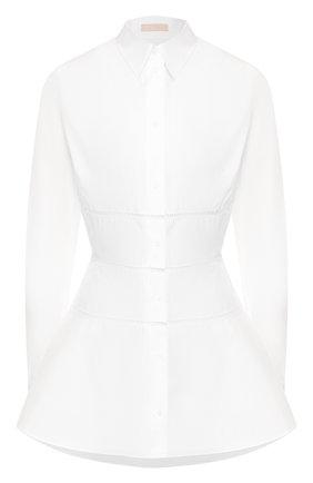 Женская хлопковая рубашка ALAIA белого цвета, арт. AS9C786RT001 | Фото 1