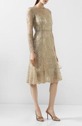 Женское платье DOLCE & GABBANA золотого цвета, арт. F6H1HT/HLM02 | Фото 2