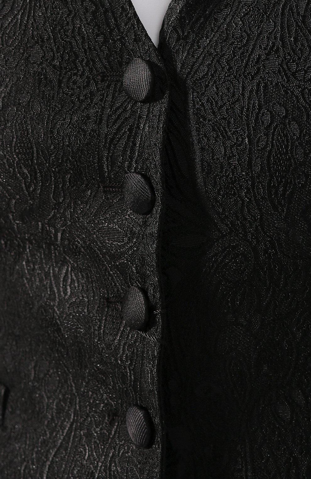 Женский жилет DOLCE & GABBANA черного цвета, арт. F79H5T/FJRCM | Фото 5
