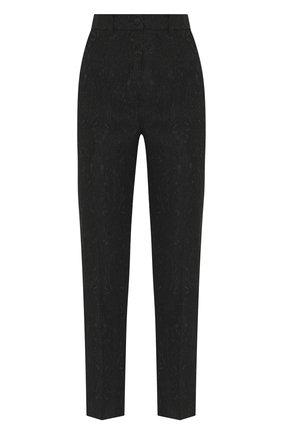 Женские брюки DOLCE & GABBANA черного цвета, арт. FTAM2T/FJRCM | Фото 1