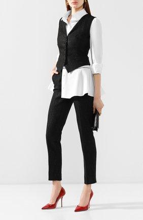 Женские брюки DOLCE & GABBANA черного цвета, арт. FTAM2T/FJRCM | Фото 2