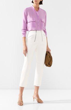 Женская шелковая блузка STELLA MCCARTNEY сиреневого цвета, арт. 531899/SY206 | Фото 2