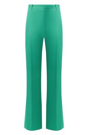 Женские шерстяные брюки BALENCIAGA зеленого цвета, арт. 595066/TGT09 | Фото 1