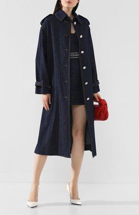 Женское джинсовое пальто DOLCE & GABBANA темно-синего цвета, арт. F0Z44D/G899T | Фото 2