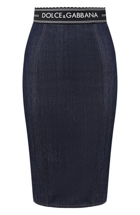 Женская джинсовая юбка DOLCE & GABBANA синего цвета, арт. F4AJND/G899T | Фото 1