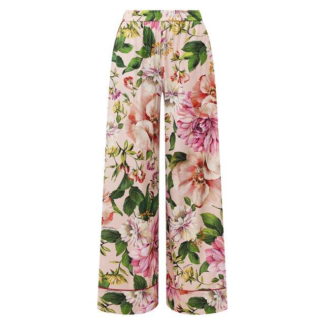 Шелковые брюки Dolce & Gabbana