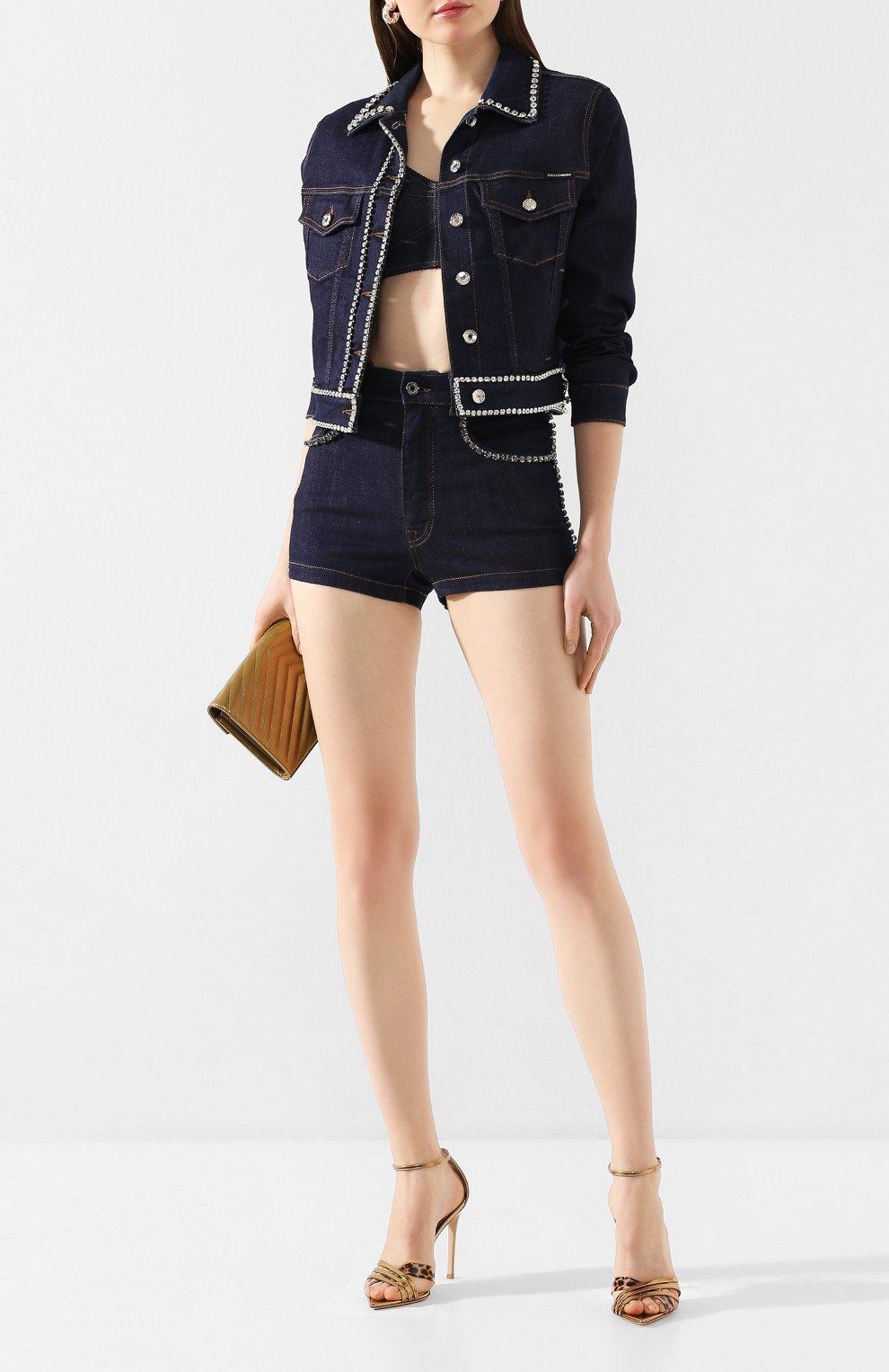 Женские джинсовые шорты DOLCE & GABBANA синего цвета, арт. FTB06Z/G898Z | Фото 2