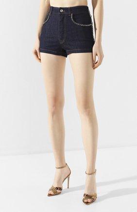 Женские джинсовые шорты DOLCE & GABBANA синего цвета, арт. FTB06Z/G898Z | Фото 3