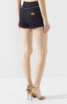 Женские джинсовые шорты DOLCE & GABBANA синего цвета, арт. FTB06Z/G898Z | Фото 4