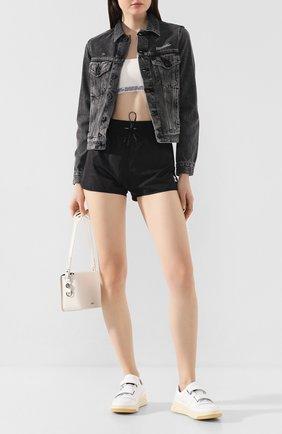Женские шорты OFF-WHITE черного цвета, арт. 0WCB020R20A390681000 | Фото 2