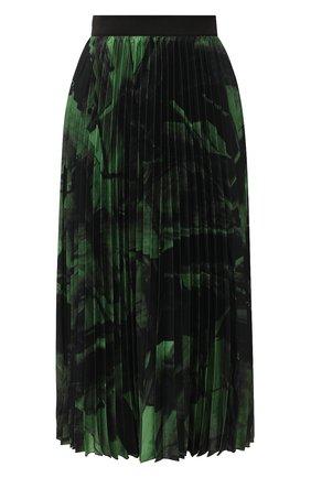 Женская шелковая юбка OFF-WHITE зеленого цвета, арт. 0WCC056R20H261021040   Фото 1