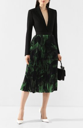 Женская шелковая юбка OFF-WHITE зеленого цвета, арт. 0WCC056R20H261021040   Фото 2