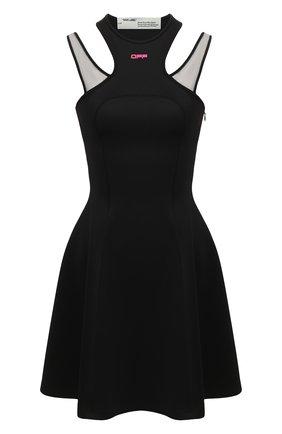 Женское платье OFF-WHITE черного цвета, арт. 0WDB210R20F850871028 | Фото 1