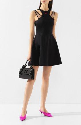 Женское платье OFF-WHITE черного цвета, арт. 0WDB210R20F850871028 | Фото 2