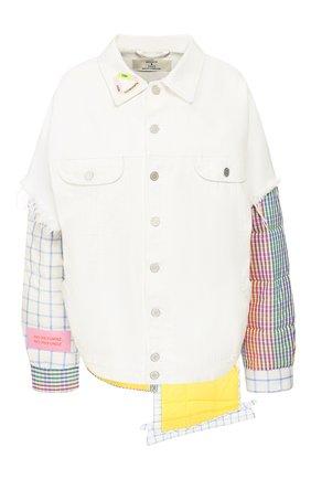 Женская джинсовая куртка NATASHA ZINKO белого цвета, арт. R20407-06/33 | Фото 1