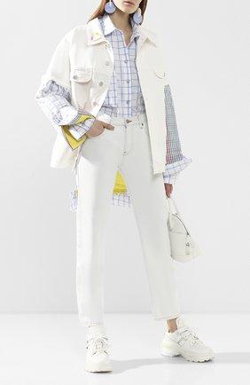 Женская джинсовая куртка NATASHA ZINKO белого цвета, арт. R20407-06/33 | Фото 2