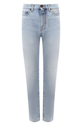 Женские джинсы SAINT LAURENT голубого цвета, арт. 601504/Y807P   Фото 1