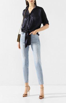 Женские джинсы SAINT LAURENT голубого цвета, арт. 601504/Y807P   Фото 2