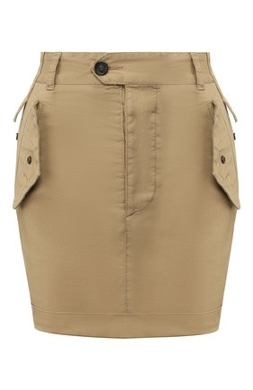 Женская хлопковая юбка DSQUARED2 бежевого цвета, арт. S72MA0787/S35175 | Фото 1