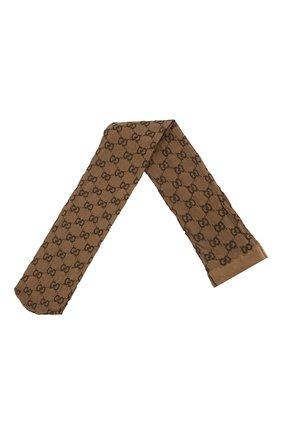Женские колготки GUCCI коричневого цвета, арт. 600467/3GE76 | Фото 1