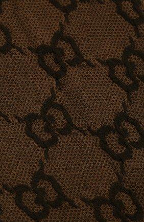 Женские колготки GUCCI коричневого цвета, арт. 600467/3GE76 | Фото 2