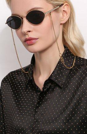 Женские солнцезащитные очки JIMMY CHOO серого цвета, арт. S0NNY 2F7 | Фото 2