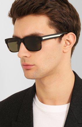 Женские солнцезащитные очки GUCCI коричневого цвета, арт. GG0340 008 | Фото 3