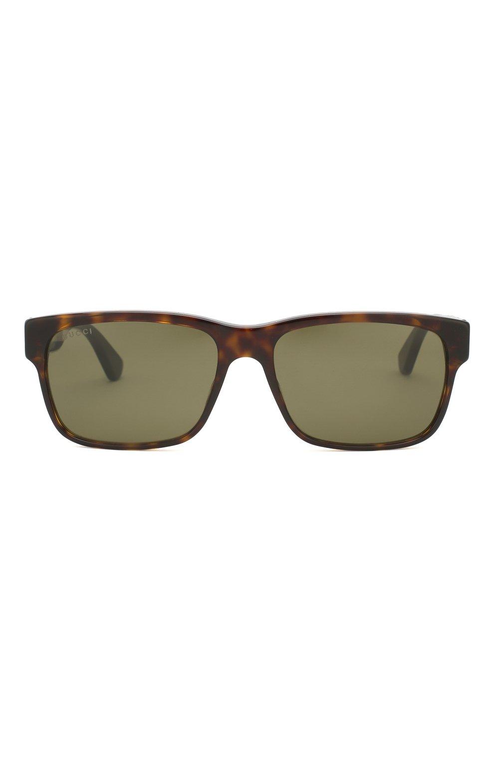 Женские солнцезащитные очки GUCCI коричневого цвета, арт. GG0340 008 | Фото 4
