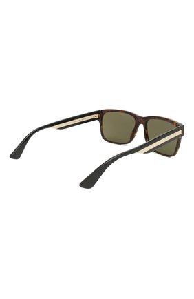 Женские солнцезащитные очки GUCCI коричневого цвета, арт. GG0340 008 | Фото 5