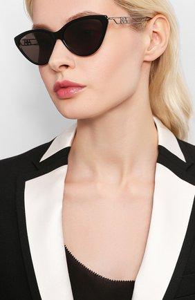 Мужские солнцезащитные очки BALENCIAGA черного цвета, арт. BB0052 003 | Фото 2