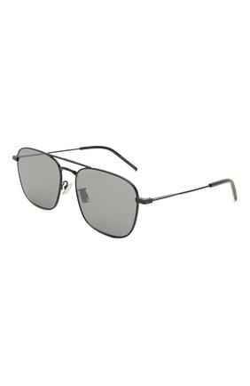 Мужские солнцезащитные очки SAINT LAURENT черного цвета, арт. SL 309 010 | Фото 1