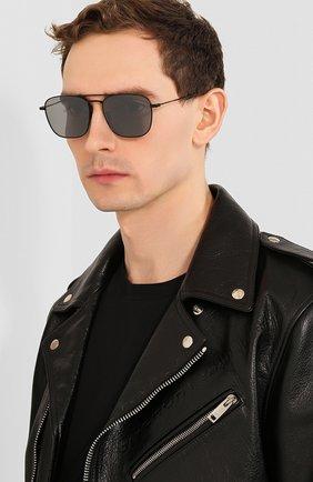 Мужские солнцезащитные очки SAINT LAURENT черного цвета, арт. SL 309 010 | Фото 2