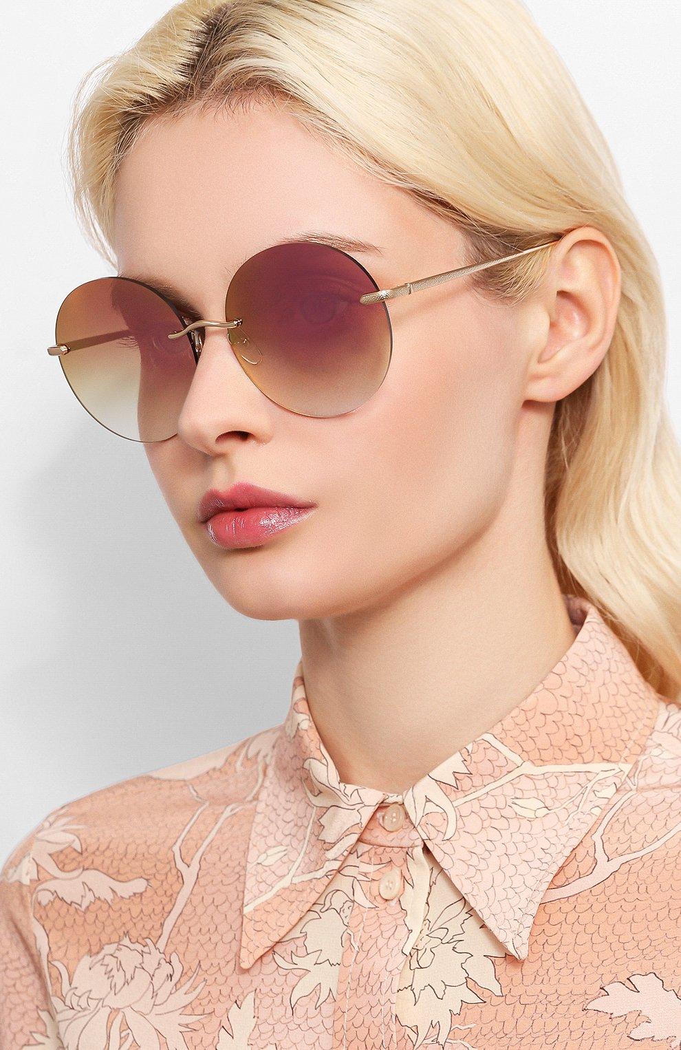 Женские солнцезащитные очки EQUE.M розового цвета, арт. NKNK/SLG-PM | Фото 2
