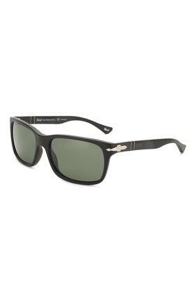 Мужские солнцезащитные очки PERSOL черного цвета, арт. 3048S-900058 | Фото 1