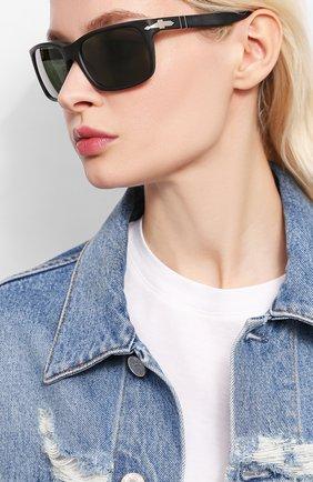 Мужские солнцезащитные очки PERSOL черного цвета, арт. 3048S-900058 | Фото 2