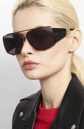 Мужские солнцезащитные очки DITA черного цвета, арт. S0ULINER-TW0/03 | Фото 2