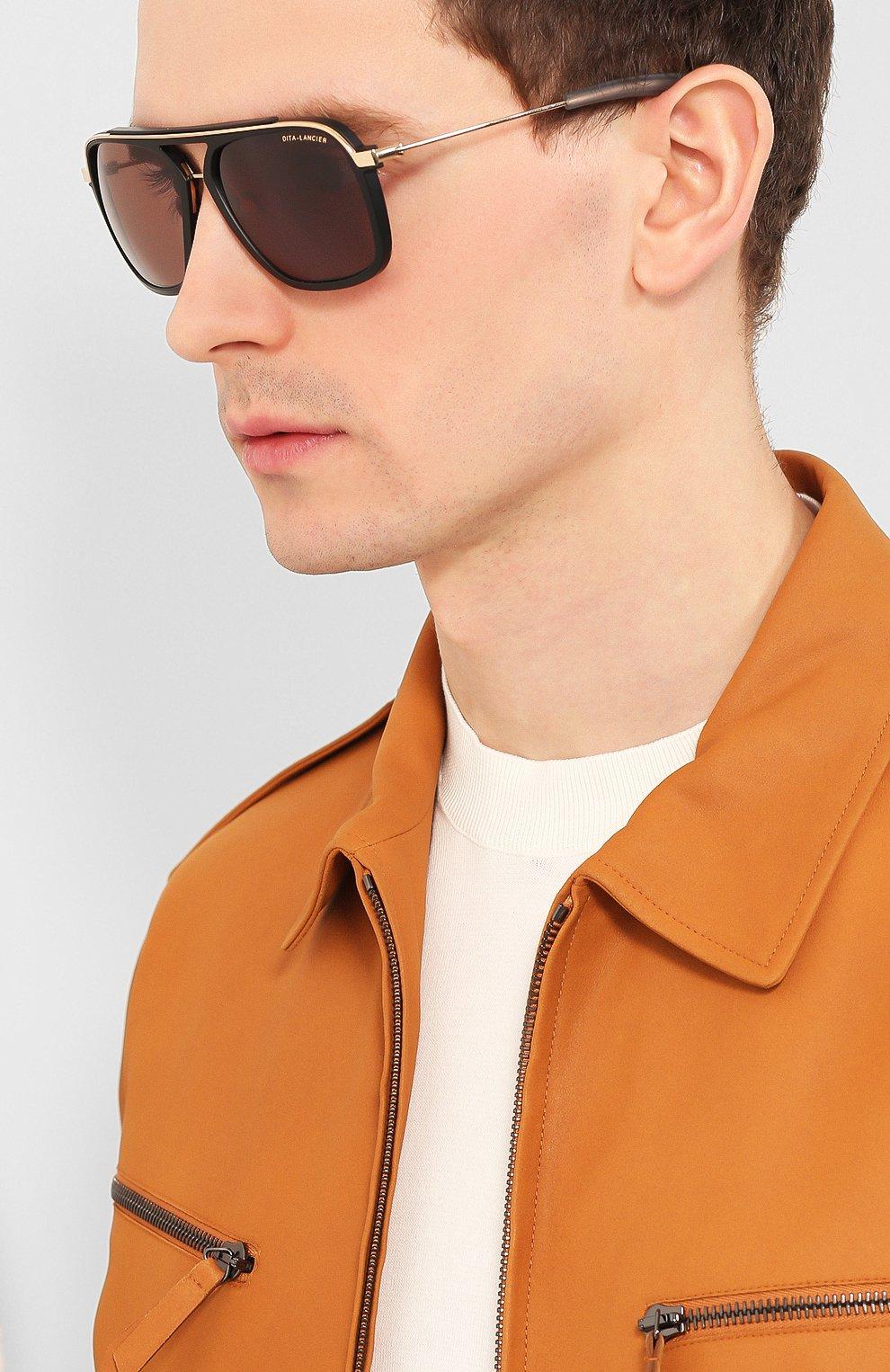Женские солнцезащитные очки DITA черного цвета, арт. LSA-400/01   Фото 3