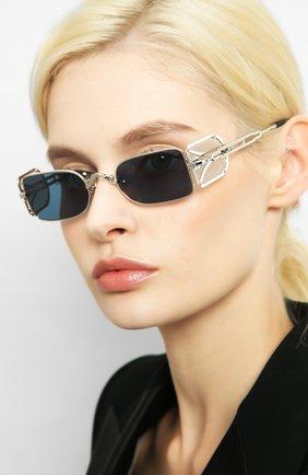 Женские солнцезащитные очки MATSUDA серебряного цвета, арт. 10611H PW-BS   Фото 2 (Тип очков: С/з; Очки форма: Прямоугольные; Оптика Гендер: оптика-унисекс)