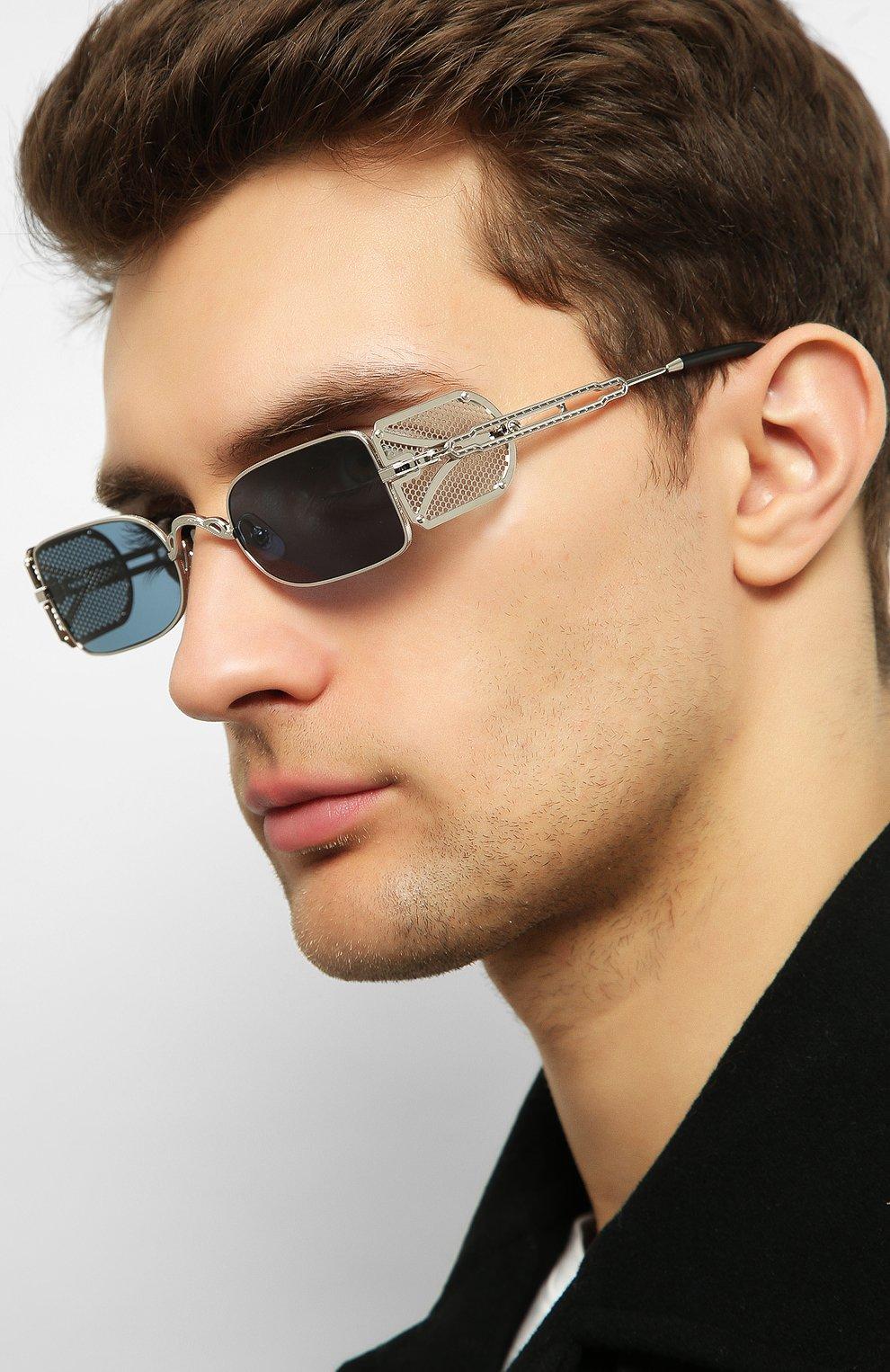 Женские солнцезащитные очки MATSUDA серебряного цвета, арт. 10611H PW-BS   Фото 3 (Тип очков: С/з; Очки форма: Прямоугольные; Оптика Гендер: оптика-унисекс)