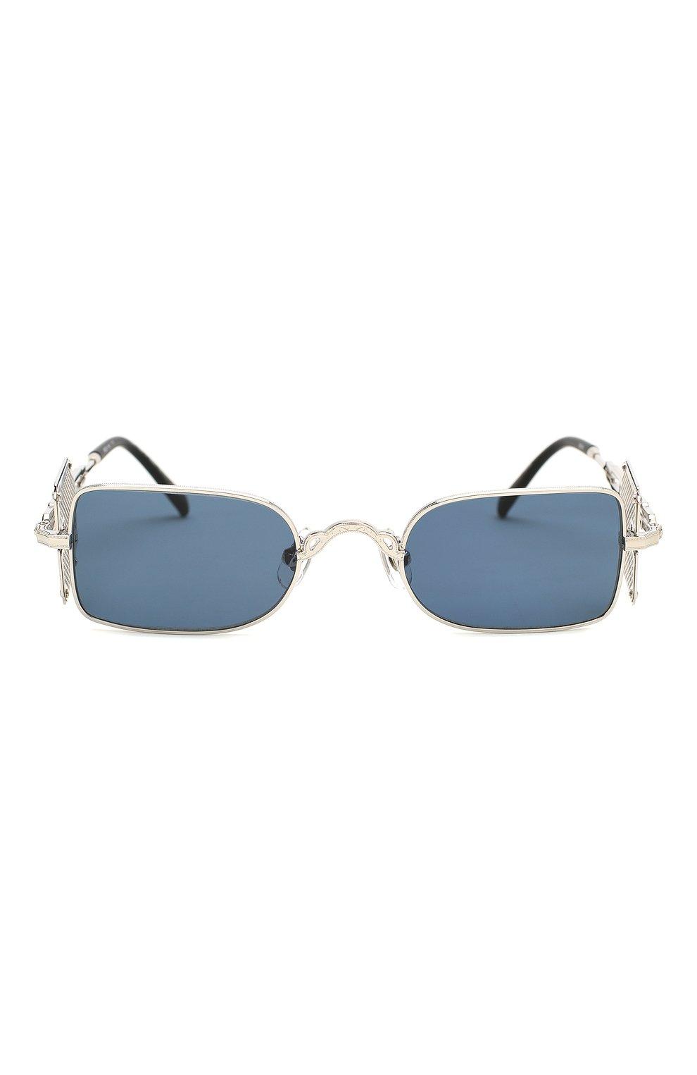 Женские солнцезащитные очки MATSUDA серебряного цвета, арт. 10611H PW-BS   Фото 4 (Тип очков: С/з; Очки форма: Прямоугольные; Оптика Гендер: оптика-унисекс)