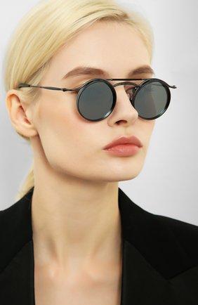 Женские солнцезащитные очки MATSUDA черного цвета, арт. 2903H MBK | Фото 2