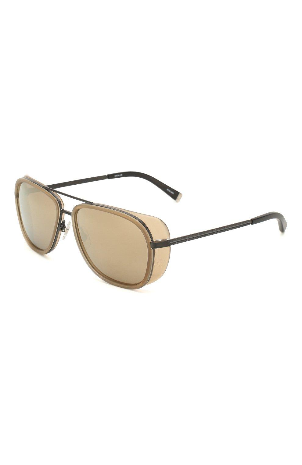 Женские солнцезащитные очки MATSUDA светло-коричневого цвета, арт. M3023 MCM-MBK | Фото 1 (Тип очков: С/з; Очки форма: Авиаторы; Оптика Гендер: оптика-унисекс)