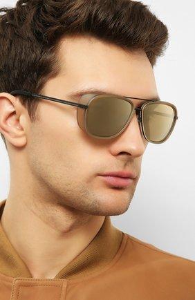Женские солнцезащитные очки MATSUDA светло-коричневого цвета, арт. M3023 MCM-MBK | Фото 3 (Тип очков: С/з; Очки форма: Авиаторы; Оптика Гендер: оптика-унисекс)