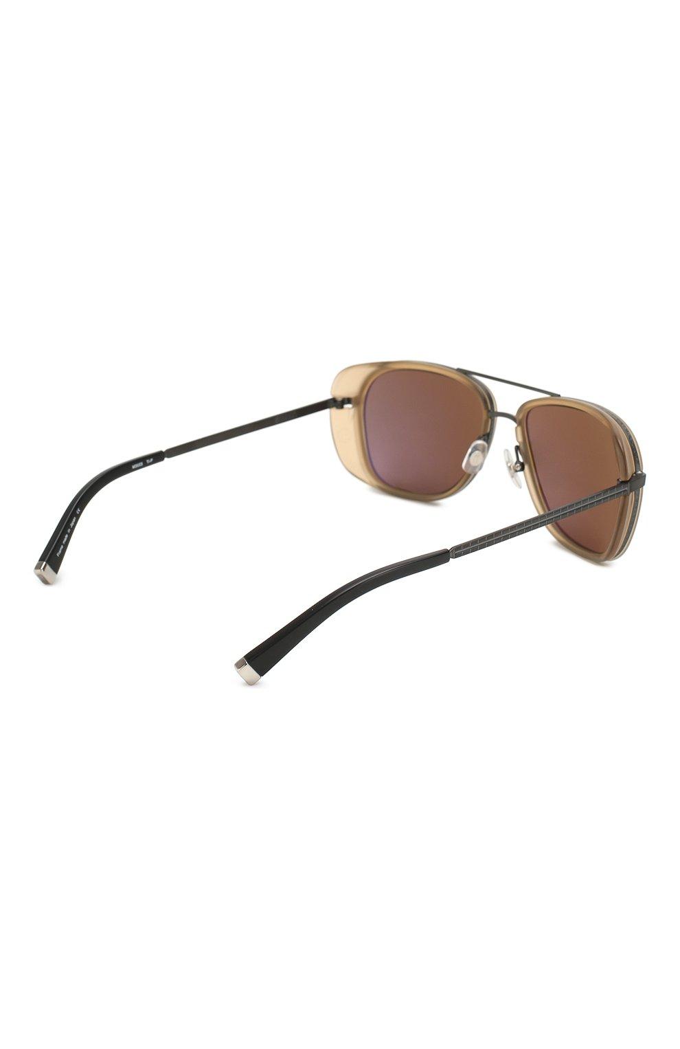 Женские солнцезащитные очки MATSUDA светло-коричневого цвета, арт. M3023 MCM-MBK | Фото 5 (Тип очков: С/з; Очки форма: Авиаторы; Оптика Гендер: оптика-унисекс)