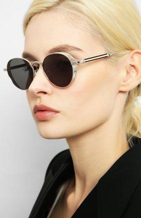 Мужские солнцезащитные очки MATSUDA серебряного цвета, арт. M3061 BS | Фото 2