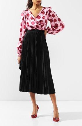 Женские текстильные туфли rainbow lace DOLCE & GABBANA бордового цвета, арт. 0112/CD0101/AL198 | Фото 2 (Материал внутренний: Натуральная кожа; Материал внешний: Текстиль; Подошва: Плоская)