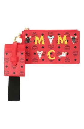 Женские футляр для документов MCM красного цвета, арт. MXZ ASXL03   Фото 1