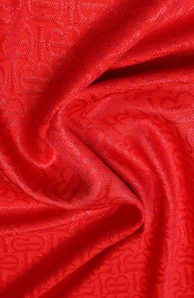 Женский платок из смеси шелка и шерсти BURBERRY красного цвета, арт. 8022695 | Фото 2