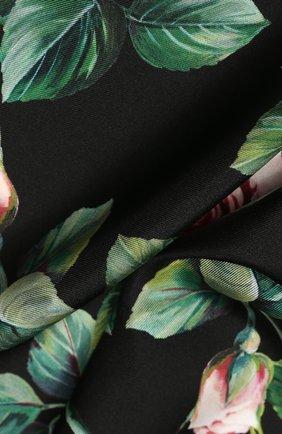 Женский шелковый платок DOLCE & GABBANA черного цвета, арт. FN093R/GDS15   Фото 2