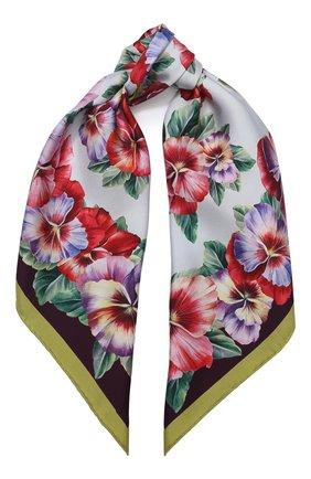 Женский шелковый платок DOLCE & GABBANA разноцветного цвета, арт. FN092R/GDS57 | Фото 1